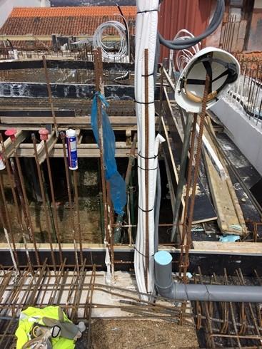 Pré Instalação Sistema de Ventilação em Betão